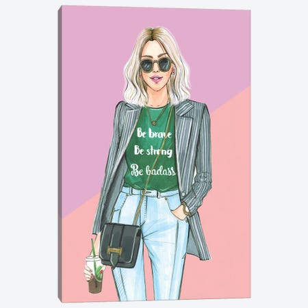I Am Nicer When I Like My Outfit Canvas Print #RDE215} by Rongrong DeVoe Art Print