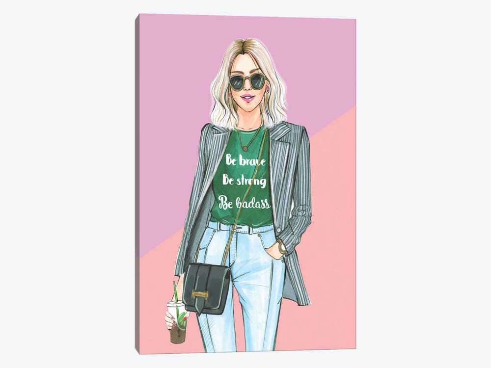 I Am Nicer When I Like My Outfit by Rongrong DeVoe 1-piece Canvas Print