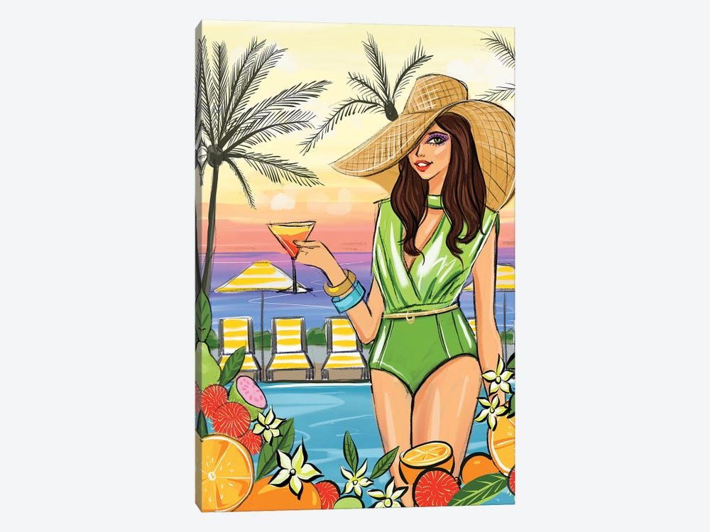 Miami Cocktail Night by Rongrong DeVoe 1-piece Art Print