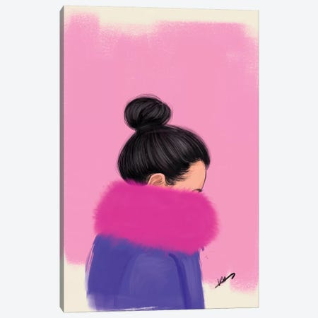Top Knot Canvas Print #RDE225} by Rongrong DeVoe Canvas Wall Art