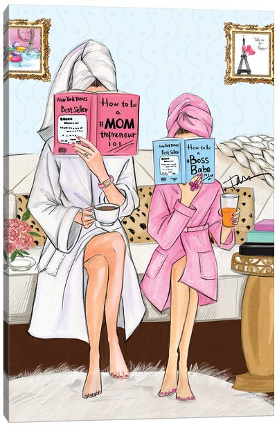 Fashion Mom And Daughter Canvas Art Print