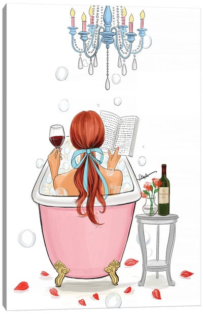Time For Myself-Red Hair Canvas Art Print