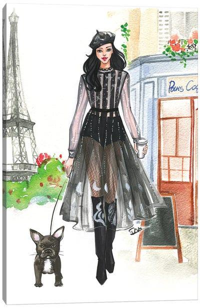 Bonjour Paris II Canvas Art Print
