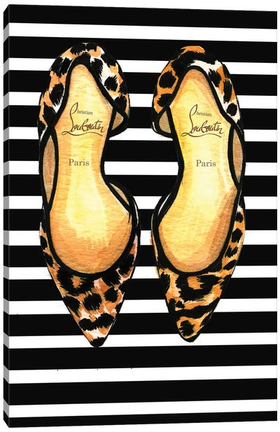 Christian Louboutin And Stripes by Rongrong DeVoe Canvas Art Print