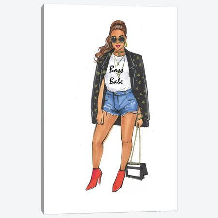 Boss Babe - Beyonce Canvas Print #RDE250} by Rongrong DeVoe Canvas Artwork