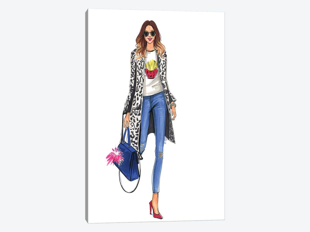 Fry Day Fashion Blogger by Rongrong DeVoe 1-piece Canvas Artwork