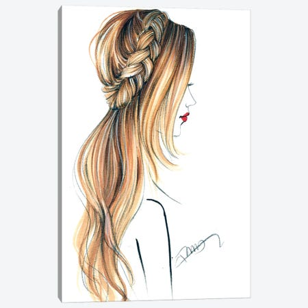 Good Hair Day Canvas Print #RDE255} by Rongrong DeVoe Art Print