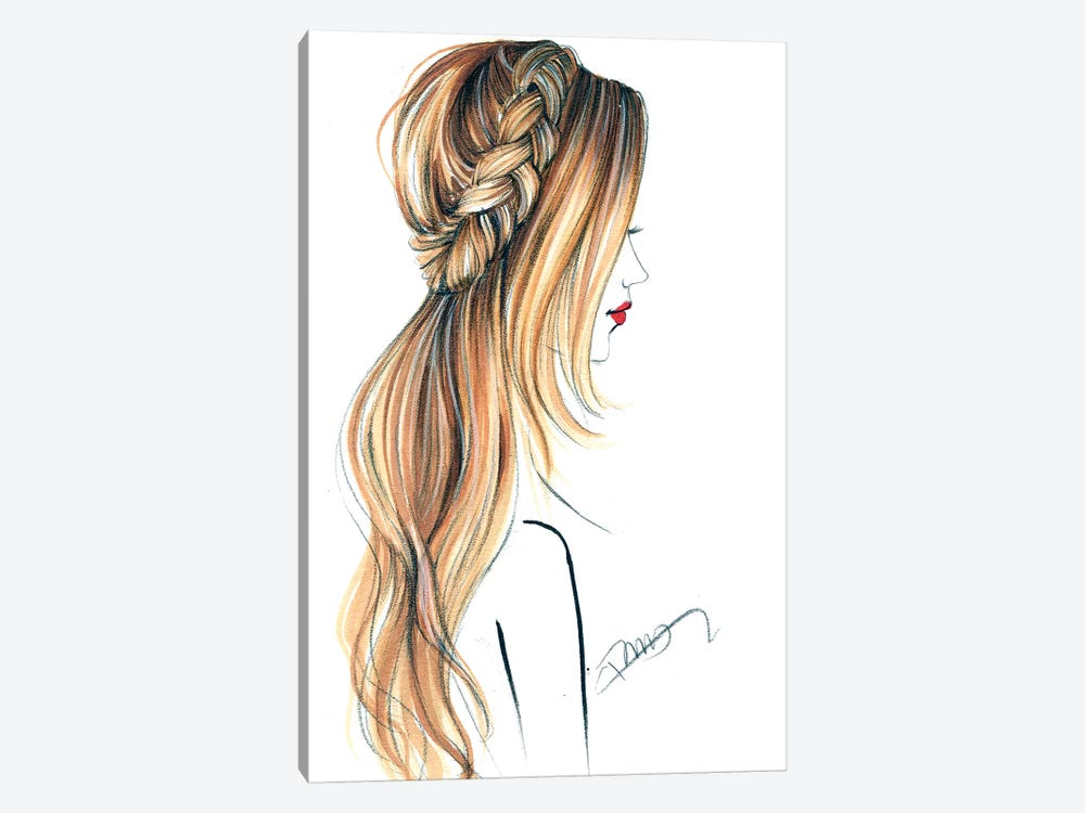 Good Hair Day by Rongrong DeVoe 1-piece Canvas Print