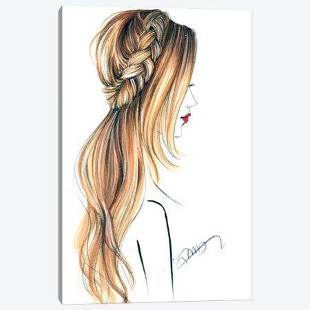Good Hair Day Canvas Print #RDE255} by Rongrong DeVoe Art Print
