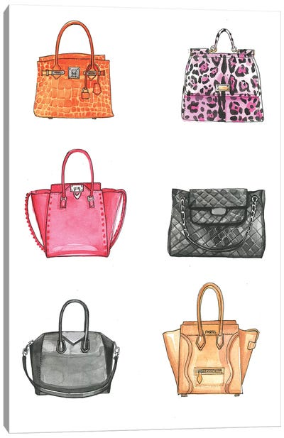 Handbag Collection  Canvas Art Print