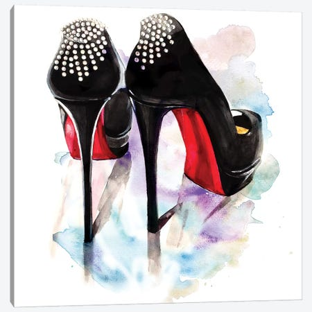 Christian Louboutin Classic Heels Canvas Print #RDE25} by Rongrong DeVoe Canvas Wall Art