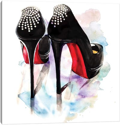 Christian Louboutin Classic Heels by Rongrong DeVoe Canvas Art Print