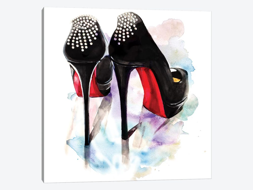 Christian Louboutin Classic Heels by Rongrong DeVoe 1-piece Canvas Artwork