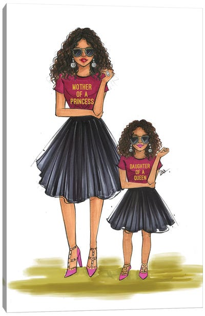 Mom And Daughter - Queen And Princess Canvas Art Print