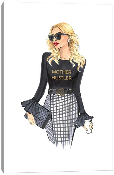 Mother Hustler-Recovered Canvas Art Print