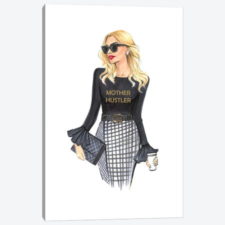 Mother Hustler-Recovered Canvas Print #RDE266} by Rongrong DeVoe Canvas Wall Art