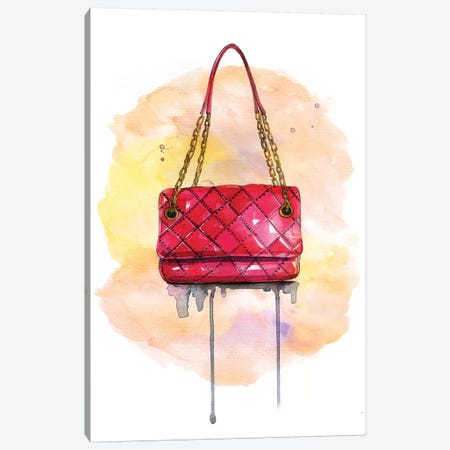 Red Lux Bag Canvas Print #RDE269} by Rongrong DeVoe Canvas Print