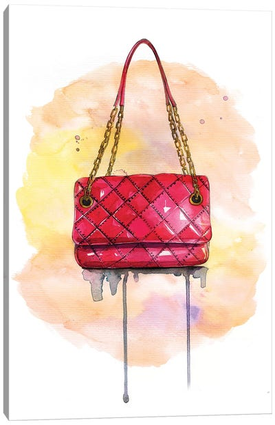 Red Lux Bag Canvas Art Print