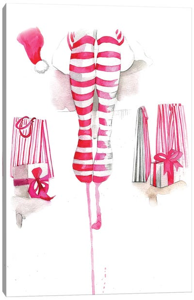 Christmas Socks Canvas Art Print