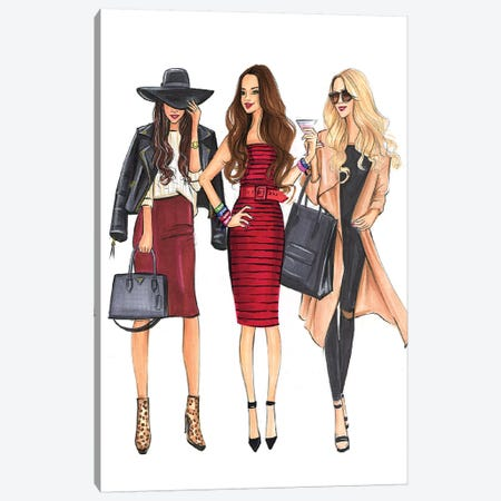 Fashionable Ladies Canvas Print #RDE277} by Rongrong DeVoe Canvas Print