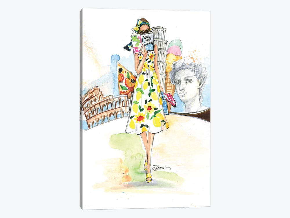Rome Here I Come by Rongrong DeVoe 1-piece Art Print