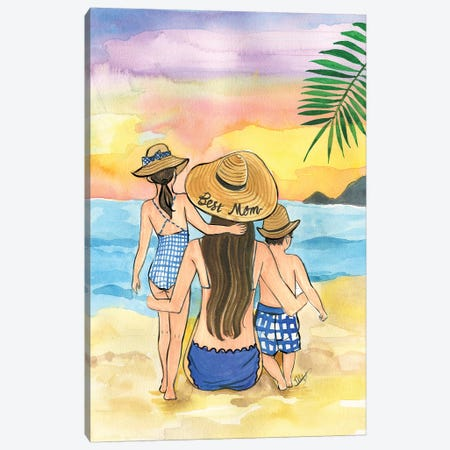 Best Mom 2019 Canvas Print #RDE285} by Rongrong DeVoe Canvas Art