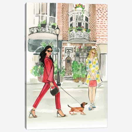City Walk In The Spring Canvas Print #RDE287} by Rongrong DeVoe Canvas Wall Art