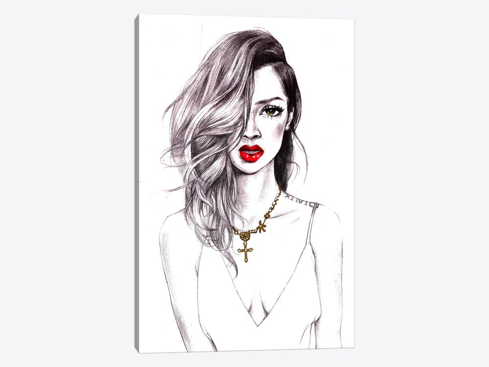 Cool Riri by Rongrong DeVoe 1-piece Canvas Print