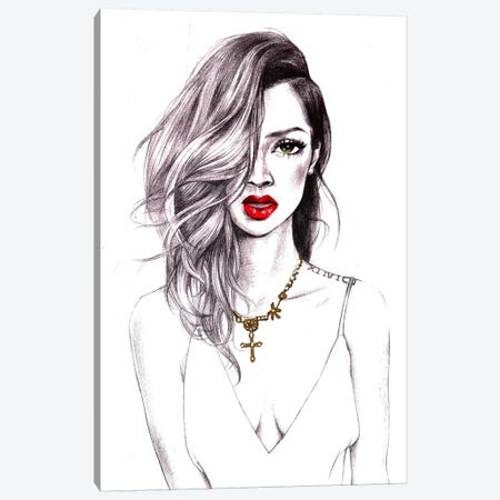 Cool Riri Canvas Print #RDE28} by Rongrong DeVoe Canvas Art Print