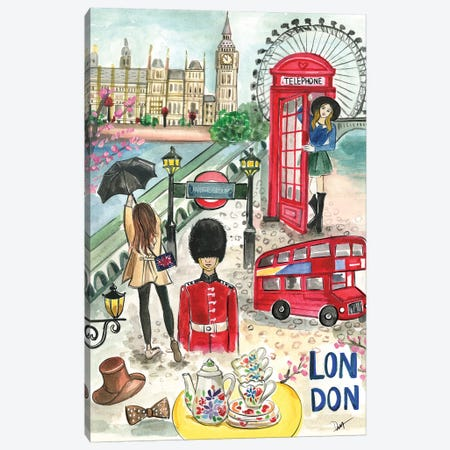 London In The Spring Canvas Print #RDE294} by Rongrong DeVoe Canvas Print