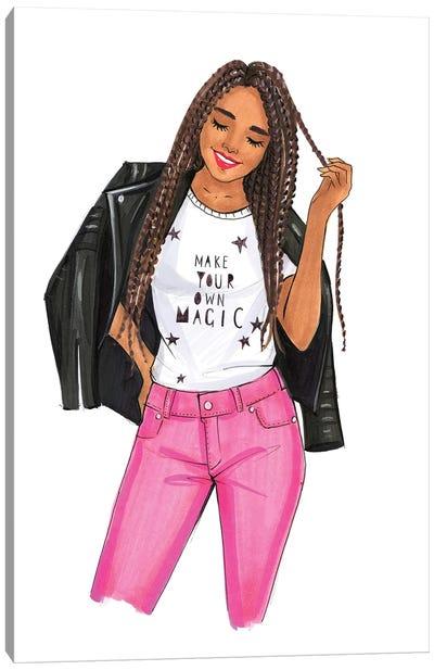 Make Your Own Magic, Girl Canvas Art Print