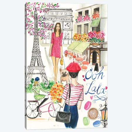 Paris In The Spring Canvas Print #RDE298} by Rongrong DeVoe Canvas Wall Art