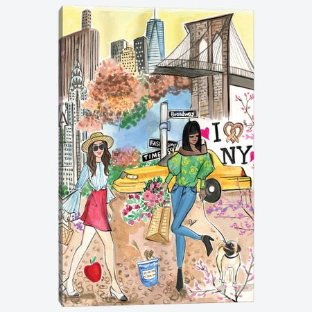 Spring In New York City Canvas Print #RDE299} by Rongrong DeVoe Canvas Art