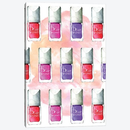 Dior Nail Polish Canvas Print #RDE30} by Rongrong DeVoe Canvas Art