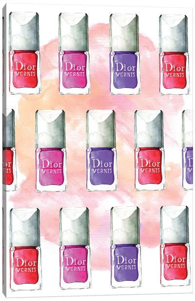 Dior Nail Polish Canvas Art Print