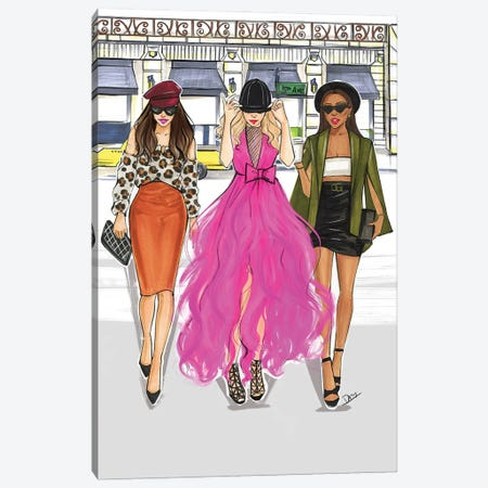 Too Glam To Give A Damn Canvas Print #RDE310} by Rongrong DeVoe Canvas Print