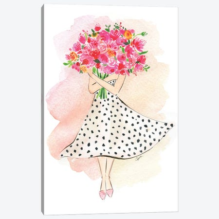 Flower Gal Canvas Print #RDE323} by Rongrong DeVoe Canvas Art