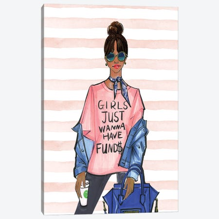 Girls Just Want To Have Funds II Canvas Print #RDE324} by Rongrong DeVoe Art Print
