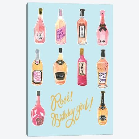 Rose Birthday Girl Canvas Print #RDE328} by Rongrong DeVoe Canvas Artwork