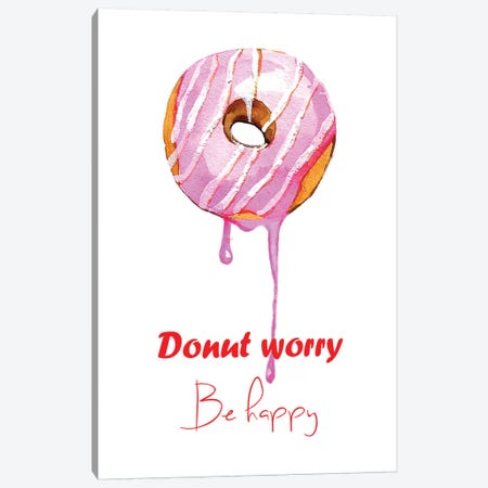 Donuts Single Canvas Print #RDE32} by Rongrong DeVoe Canvas Wall Art
