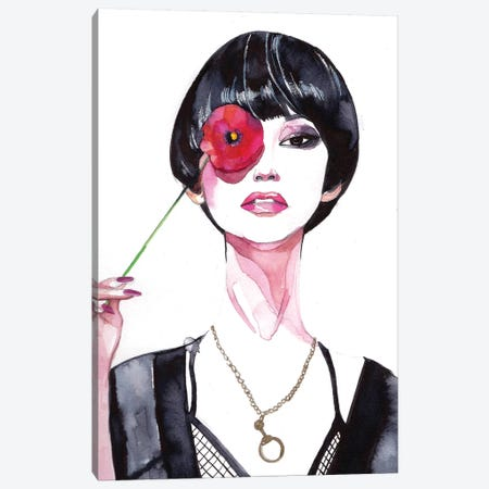 Flower Girl  Canvas Print #RDE33} by Rongrong DeVoe Canvas Artwork