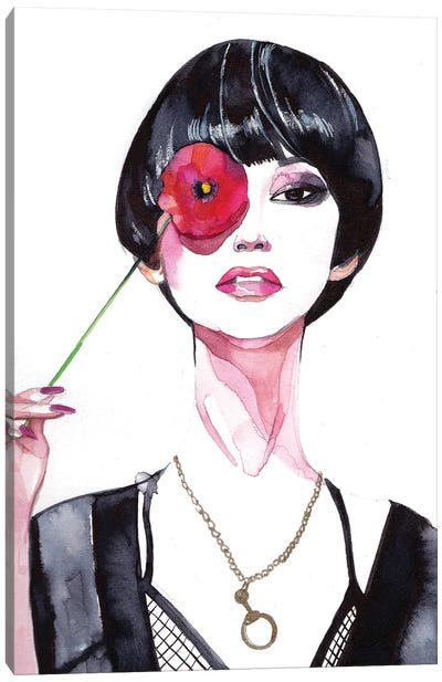 Flower Girl  Canvas Print #RDE33