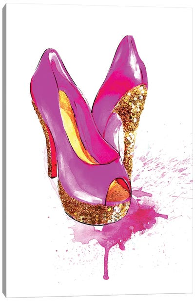 Glitter High Heel Canvas Print #RDE35