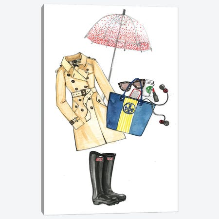 In Case It Will Rain Canvas Print #RDE39} by Rongrong DeVoe Canvas Wall Art