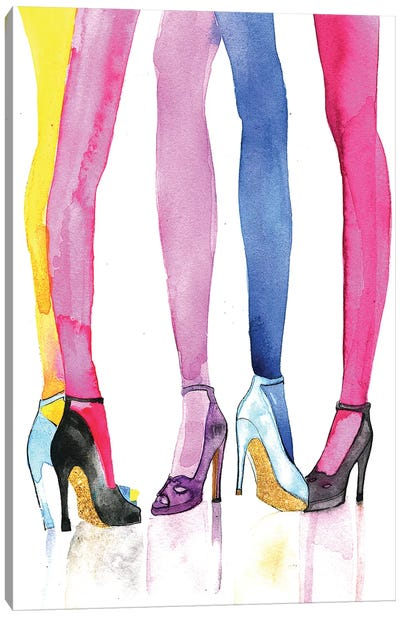 Legs And Heels by Rongrong DeVoe Canvas Art Print