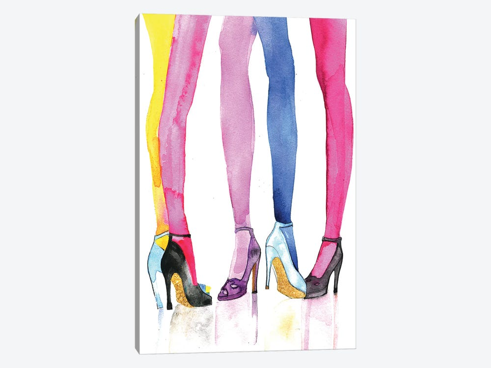 Legs And Heels by Rongrong DeVoe 1-piece Canvas Art Print
