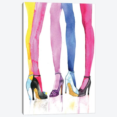 Legs And Heels Canvas Print #RDE42} by Rongrong DeVoe Canvas Print