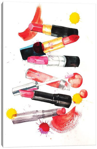 Lipsticks Collection Canvas Print #RDE45