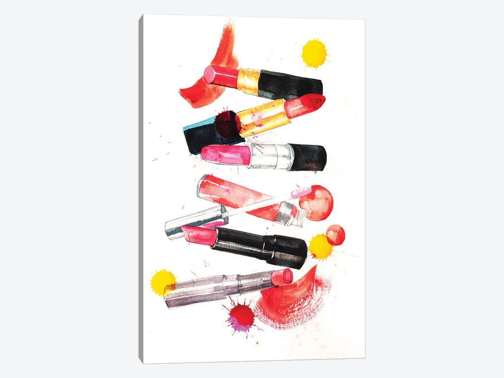 Lipsticks Collection by Rongrong DeVoe 1-piece Canvas Art