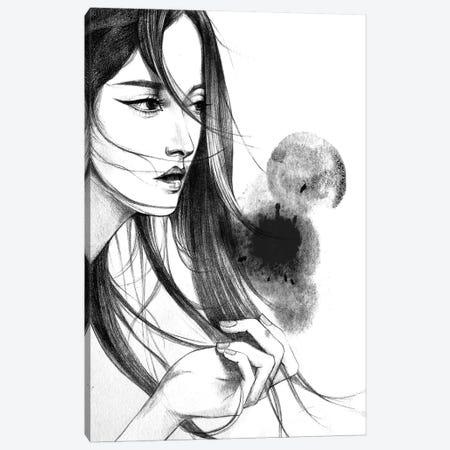 Long Hair Canvas Print #RDE46} by Rongrong DeVoe Canvas Wall Art